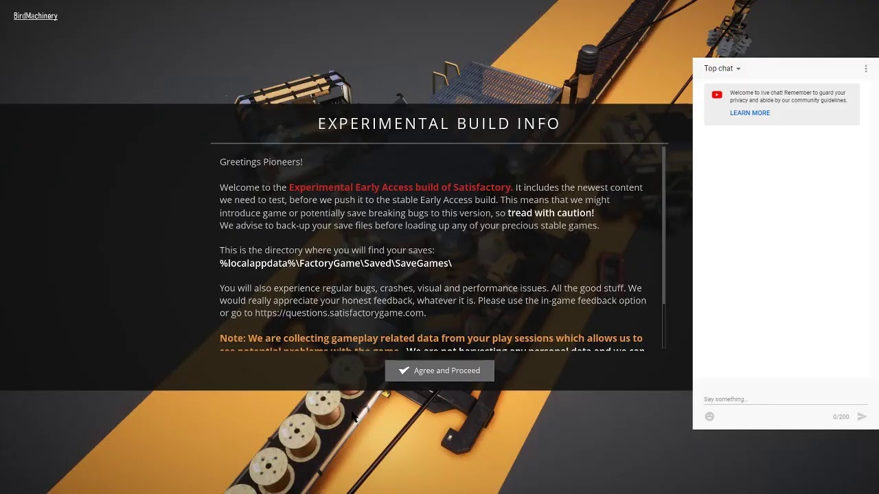 SATISFACTORY Experimental Build LIVE STREAM ~Bird Machinery~
