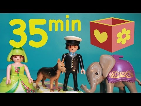 Playmobil videos | Bellboxes collection | 35 min | police, circus, animals |