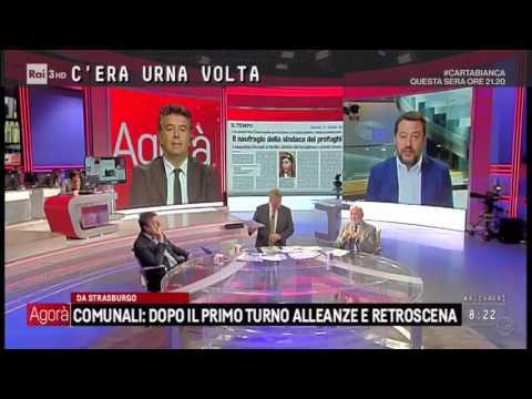 Matteo Salvini commenta la sconfitta del PD a Lampedusa — 13/06/2017