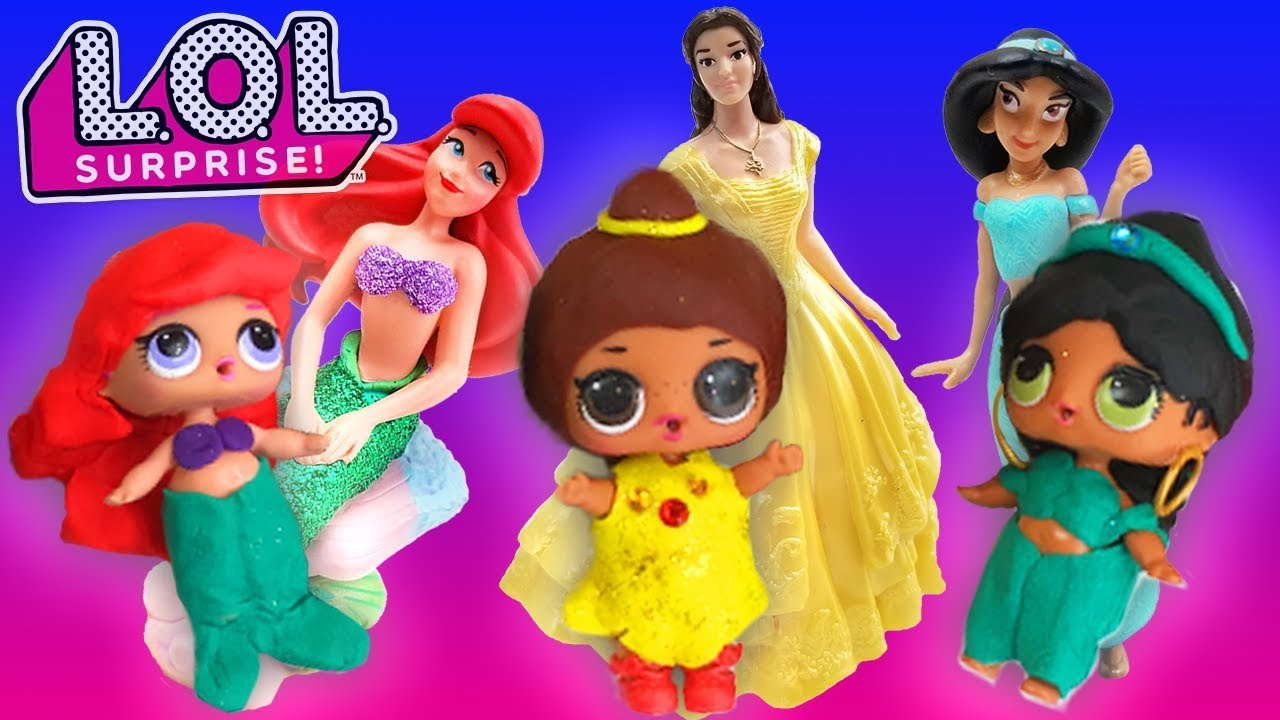 LOL Surprise Dolls Disney Princess Spin the Wheel Game! Starring Dollface,  MC Swag, and Curious QT! - YouTube