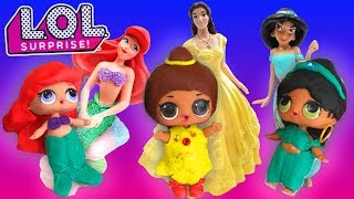 LOL Surprise Dolls Disney Princess Spin the Wheel Game! Starring Dollface, MC Swag, and Curious QT!