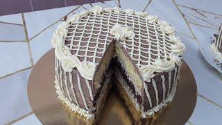 Торт Золотой ключик с ореховой начинкой