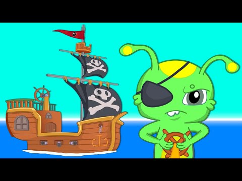 Groovy The Martian Special Episode - Treasure Hunt with the magic Pirate Ship - Cartoons for kids