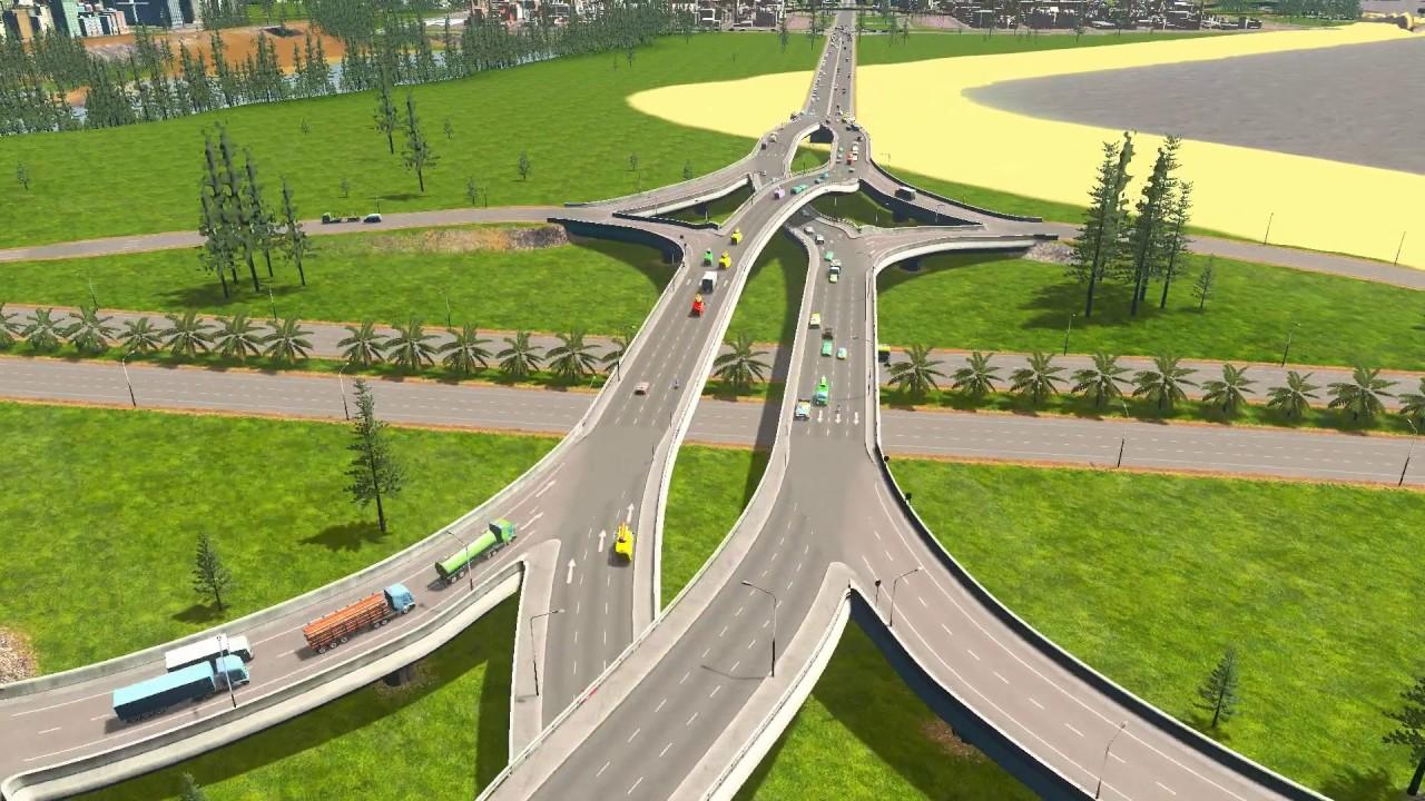 cities skylines how to build merging roads