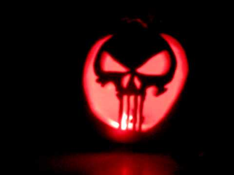 punisher skull jack o lantern pumpkin youtube