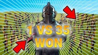 האקר מנצח 35 שחקנים לבד ?! *מטורף* פורטנייט - cheater won 1vs35 Fortnite Battle Royale