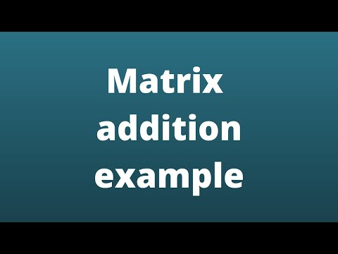 Multiplication Of Matrices Example - 1 / Matrices / Maths Algebra from YouTube · Duration:  5 minutes 1 seconds