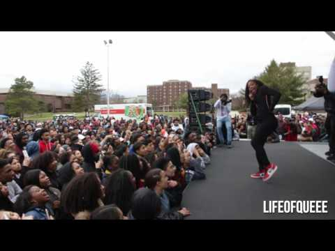 LIFEOFQUEEE PERFORMS AT RUTGERS UNIVERSITY