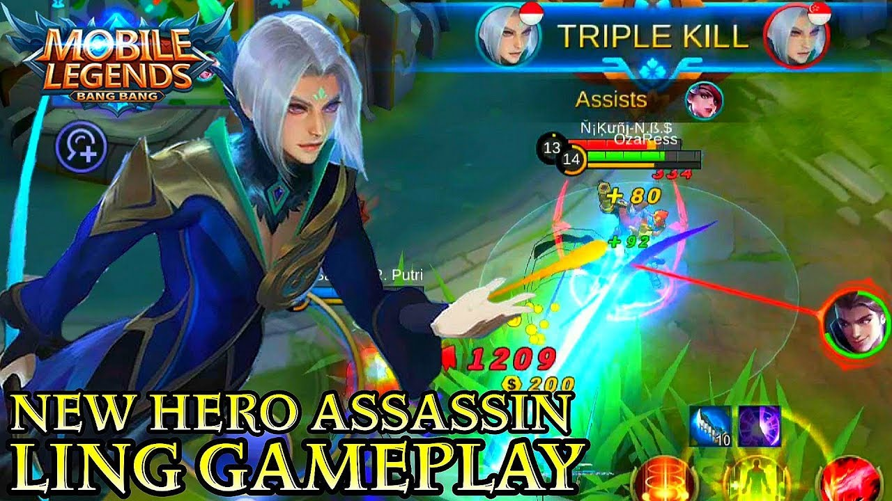 New Hero Ling Gameplay - Mobile Legends Bang Bang - YouTube