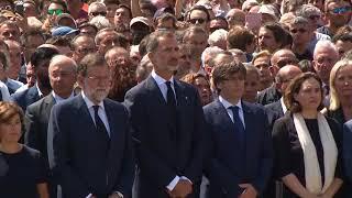 Imatges de recurs de la concentració a plaça de Catalunya