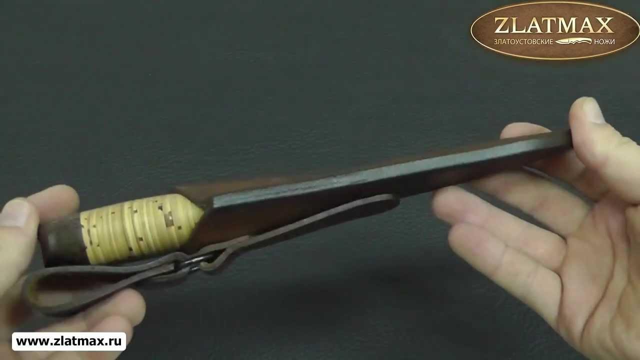 Видео Нож Полярный-2 (100Х13М, Наборная береста, Текстолит)