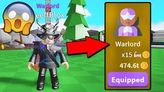 PEGUEI CLASSE WARLORD NO SABER SIMULATOR - ROBLOX