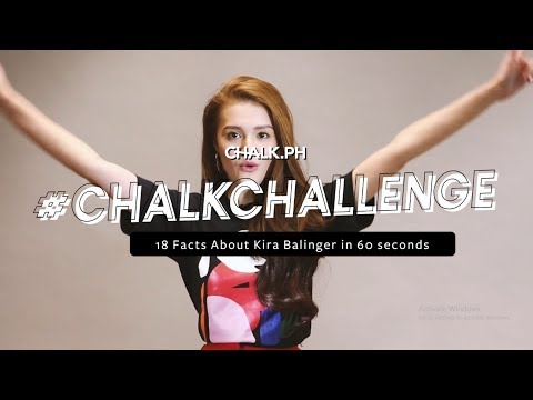 #ChalkChallenge: Kira Balinger Shares 18 Facts In 60 Seconds