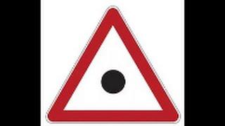 Учим ПДД. Дорожный знак черный круг