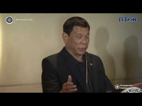 Pres Duterte Media Interview In China, Affirm His War On Drugs