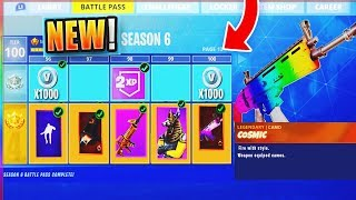 *NEW* FORTNITE SEASON 6 BATTLE PASS! - Leaked Fortnite Battle Royale SEASON 6 SKINS & THEME Leaks!
