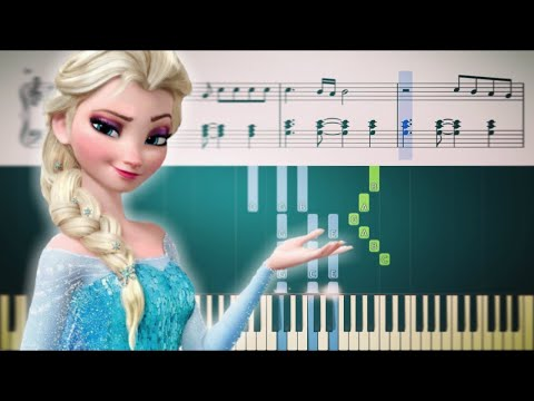LET IT GO Frozen - Piano Tutorial + SHEETS