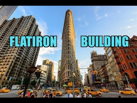 The Flatiron Building In NYC  (HD)