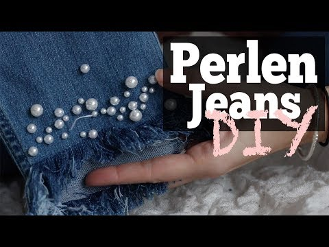 DIY Perlenjeans  Pearl Jeans  Blogger styling
