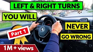 Interesting tips on HΟW TO TURN LEFT and RIGHT - PART 1 || ❤ 40k LIKES ❤ || Beginner Driver Lesson