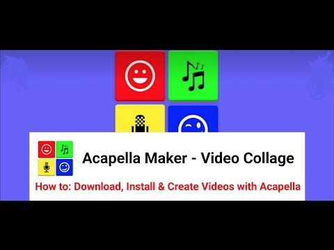 How to: Download, Install & Create Acapella Funny & Best Videos on Android  Phones