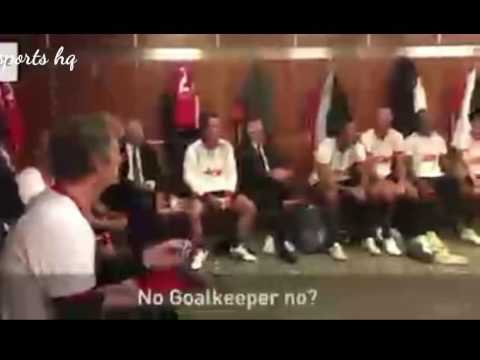 Sir Alex Ferguson team talk to the 08 Manchester United team during Michael carrick's testimonial