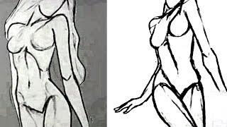 Как нарисовать ТЕЛО ЧЕЛОВЕКА КАРАНДАШОМ ЧАСТЬ. 2! Учимся рисовать ТЕЛО ЧЕЛОВЕКА Простым Карандашом!