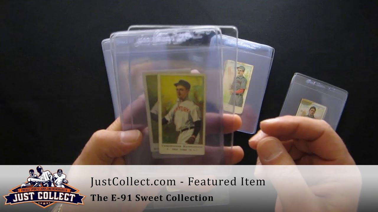 Sweet Collection E91 American Caramel Baseball Cards