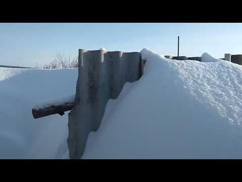 Снежная зима 2019.Воскресенское Саратовская область.