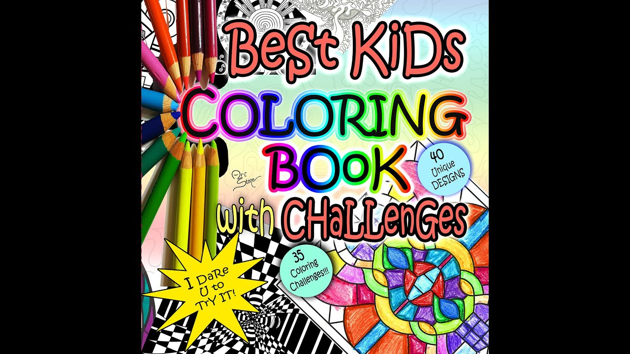 Best Kids Coloring Book With Challenges