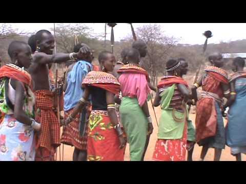 Traditional dance by the Samburu people