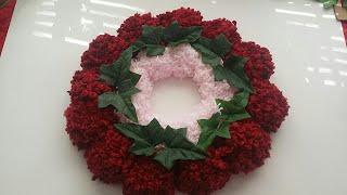 DIY Pom Pom Wreath. Very Easy Pom Pom Craft. DIY home decor.