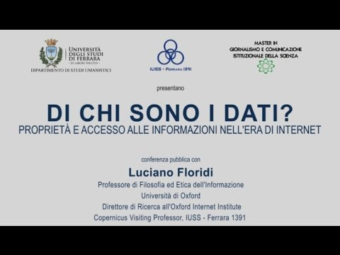 Di chi sono i dati? Luciano Floridi
