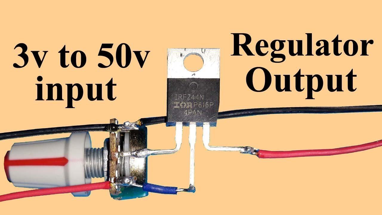 DIY Voltage Regulator using IRFZ44N MOSFET