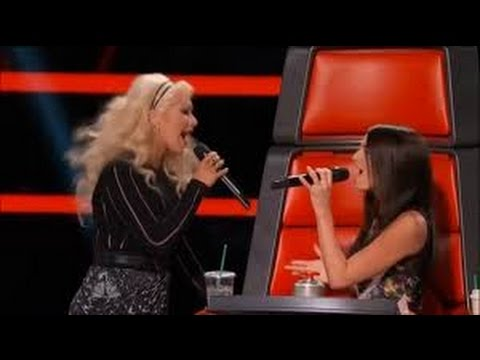 4k UHD The Voice 2015 Backstage Scene After Christina Aguilera ft Caitlin Caporale Impossible