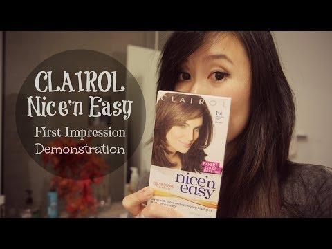 Clairol Nice'n Easy Hair Dye First Impression Demonstration