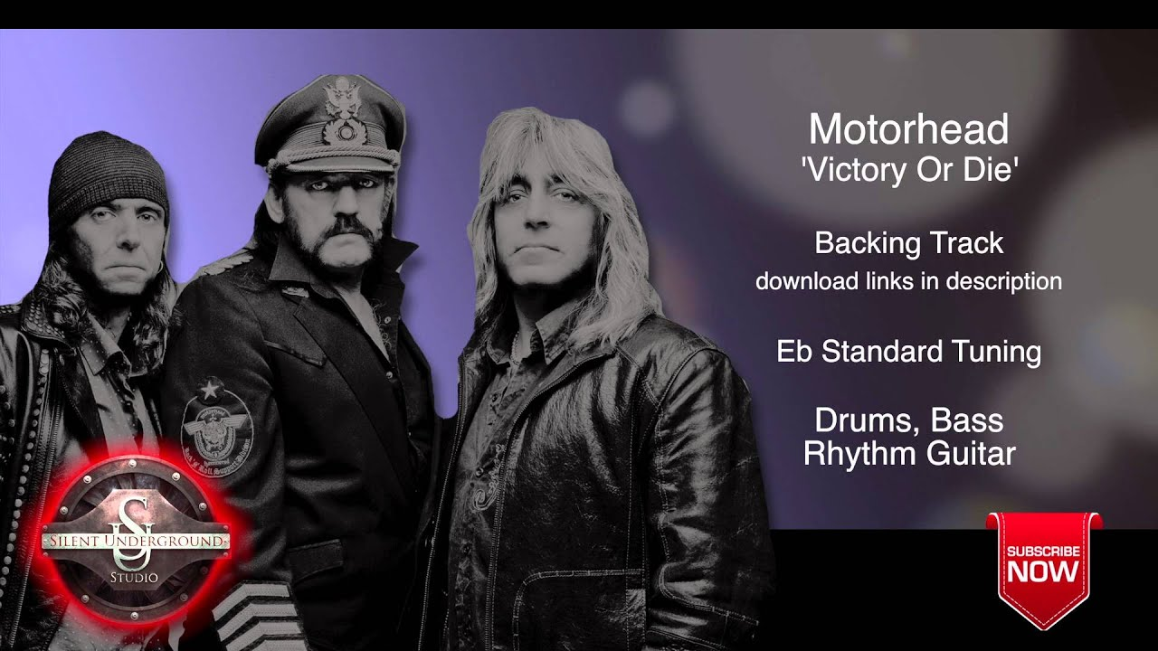 motorhead victory or die backing track rhythm guitar youtube