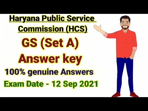 HCS Prelims 2021 Set A GS Answer Key | Haryana Civil Services GS Paper Solution In Hindi
