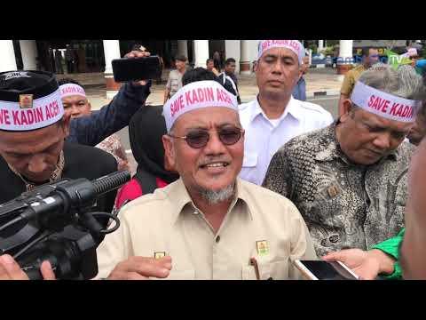 Demonstran Minta Musprov Kadin Aceh Dibatalkan