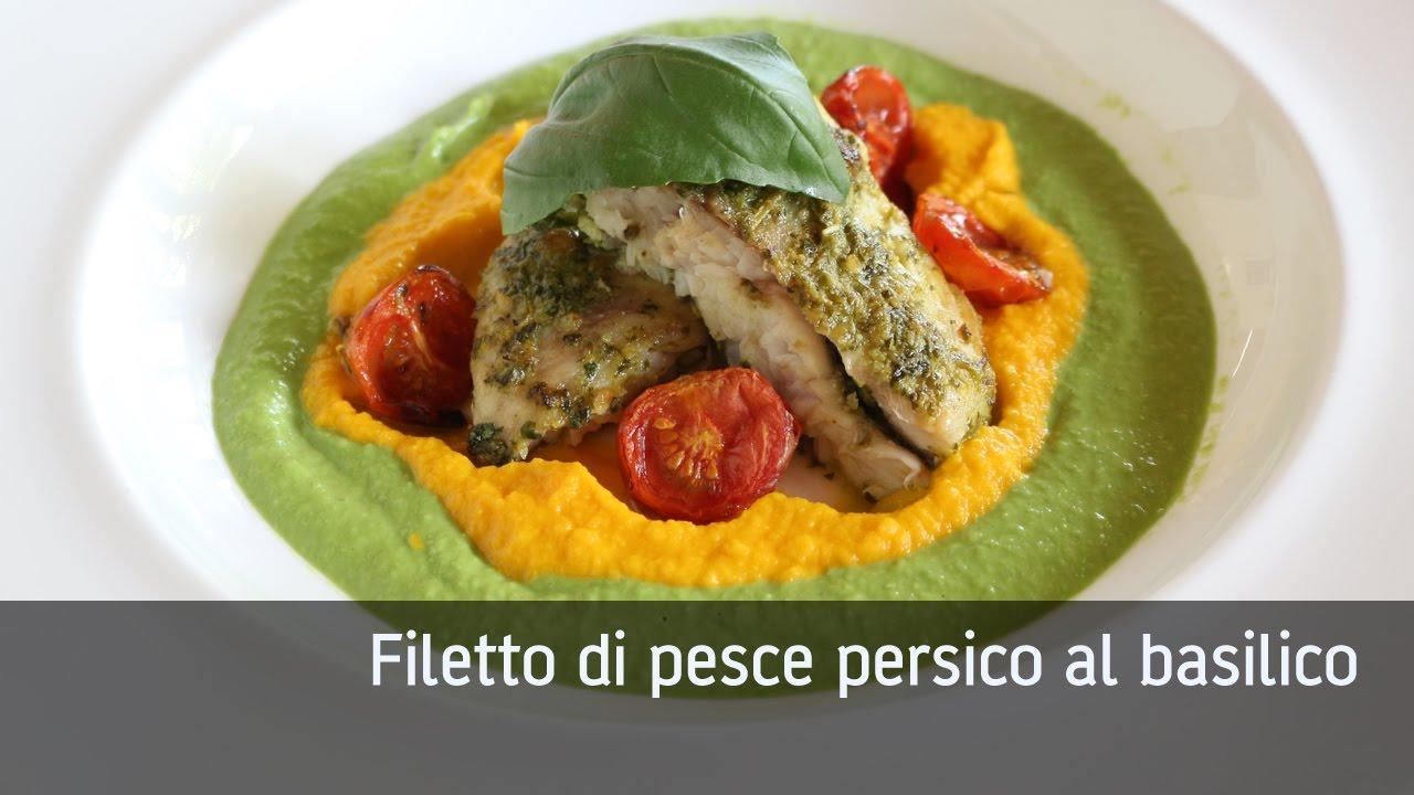 Filetto di pesce persico al basilico - YouTube