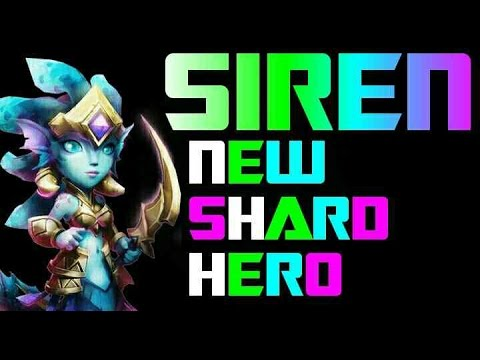 Castle Clash New Shard Hero Siren!!!