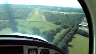 landing lessay airfield france with ben