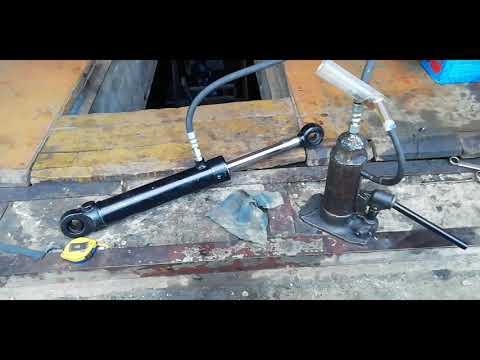 самодельная гидравлика из домкрата для кузовного ремонта часть2
