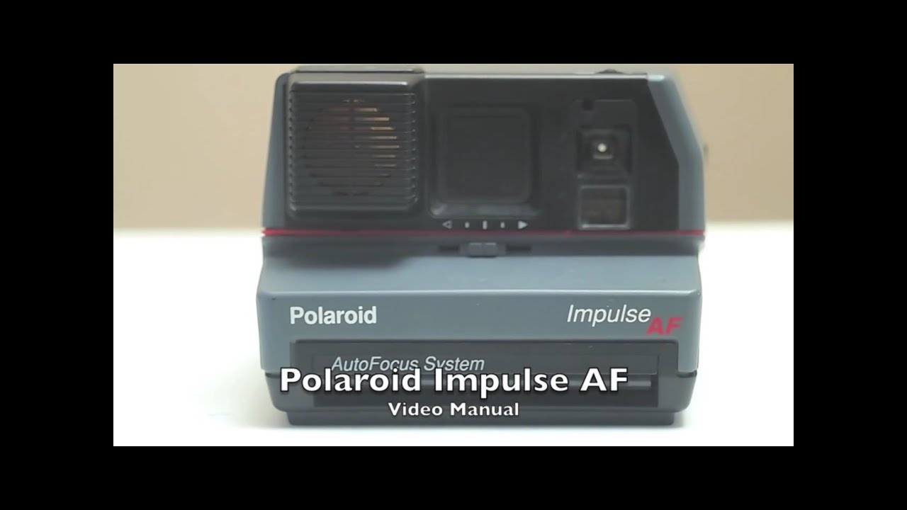 polaroid impulse af video manual youtube rh youtube com Polaroid Automatic 250 Land Camera Polaroid Impulse 600 Plus Film