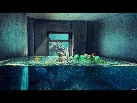 Photoshop Manipulation Tutorial Water Room (포토샵 합성 강좌 워터 룸)