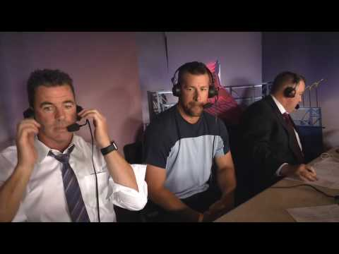 Mark Mulder in Cardinals broadcast booth