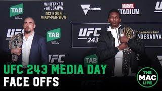 UFC 243 Media Day: Face Offs