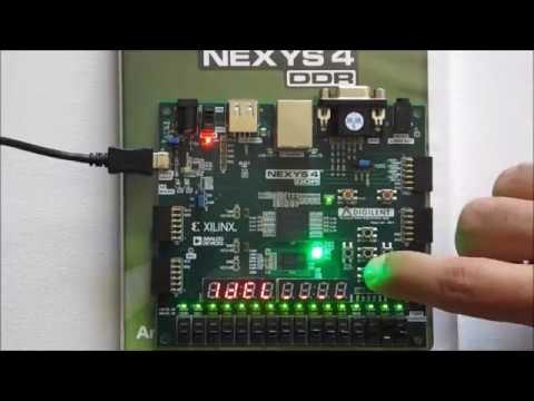 FPGA Artix-7, Design LEDs & SSGs Controller on Nexyx4 DDR board