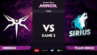 [EN] Mineski vs Team Sirius, Game 2, StarLadder ImbaTV Dota 2 Minor S2 Group Stage
