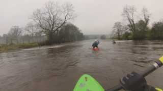 Kayaking Omagh - Fairywater Bridge To Melon Country Inn [High Water]
